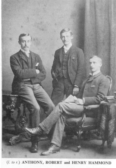 Anthony, Robert and Henry Hammond. Photo courtesy of The English Folk Dance & Song Society