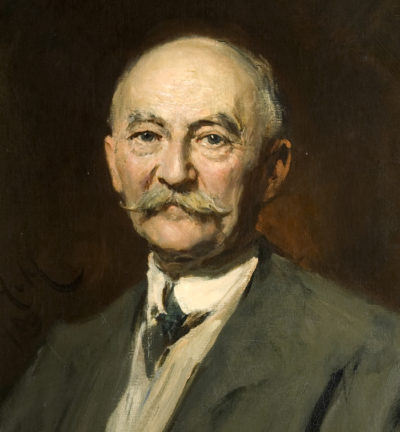 Thomas Hardy by Herkomer. Used courtesy of Dorset County Museum