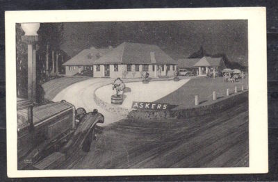 A stylised and glamourous view of motel stays from the 1930s