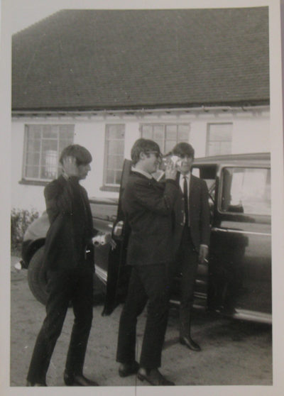 Ringo, John and George (Paul wasn't feeling too fab) at Askers