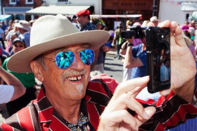 Festival patron Hank Wangford