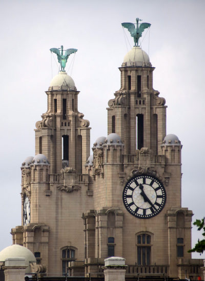 The iconic Liver Building