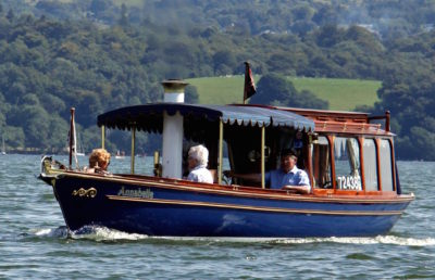 Annabelle steaming on Lake Windemere, August 2015