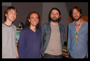 Paul and Chris Robinson (right) with Steve Payne and George Seara